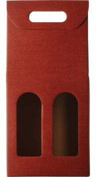 Gaveæske Seta Bordeaux m. vindue 2 fl. - Gavekasser / gaveæsker